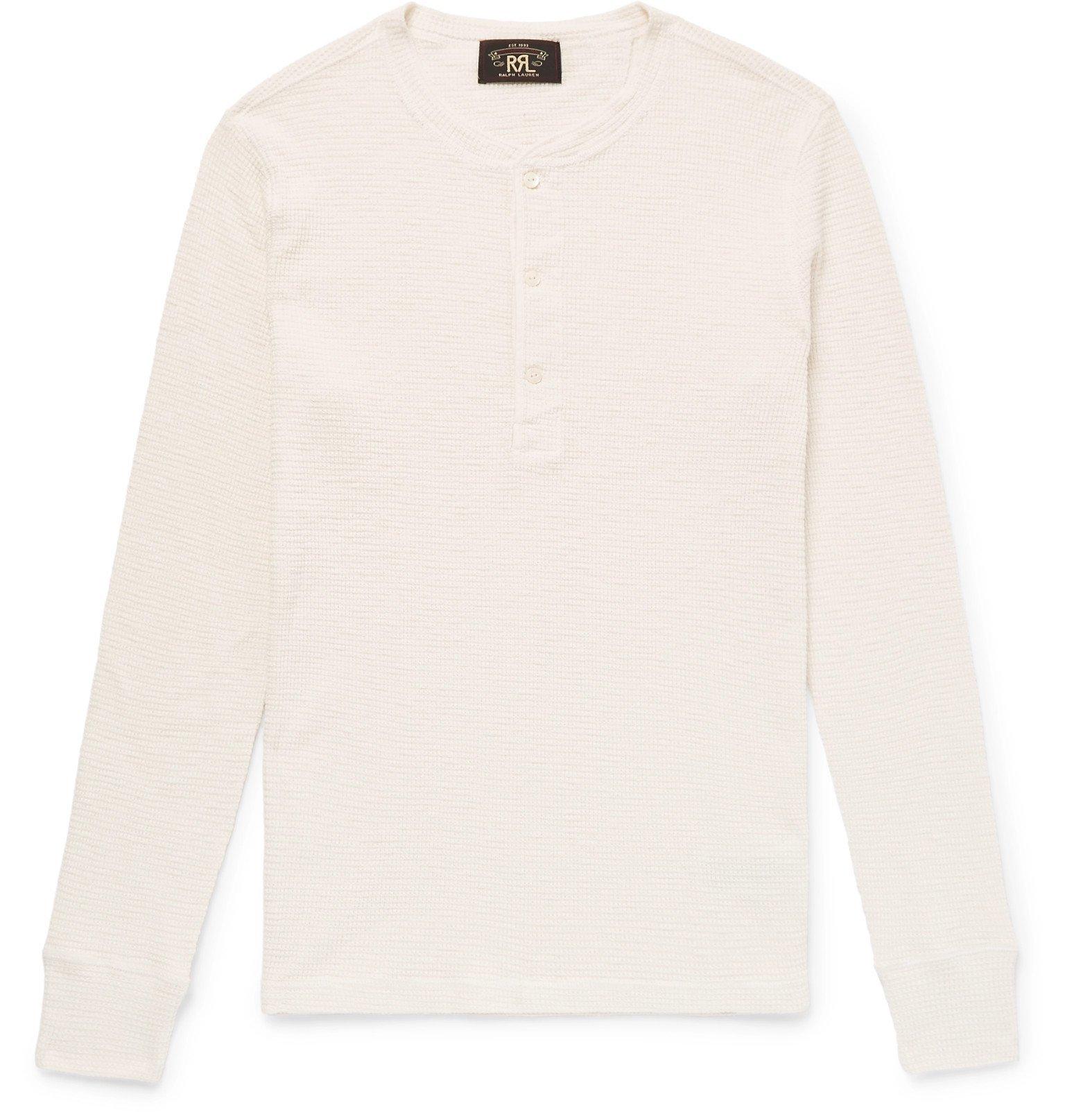 RRL - Waffle-Knit Cotton Henley T-Shirt - White
