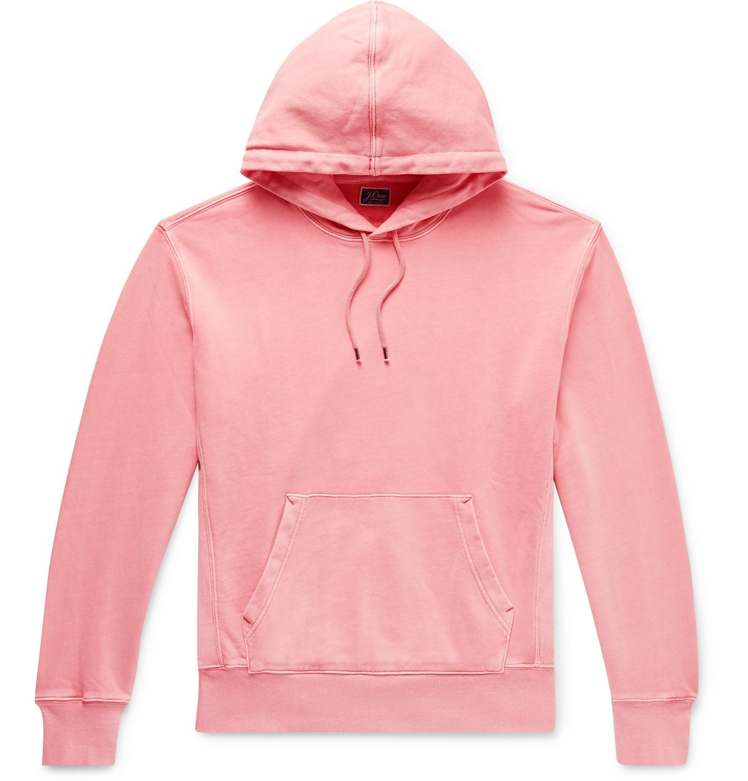 Photo: J.Crew - Garment-Dyed Loopback Cotton-Jersey Hoodie - Pink