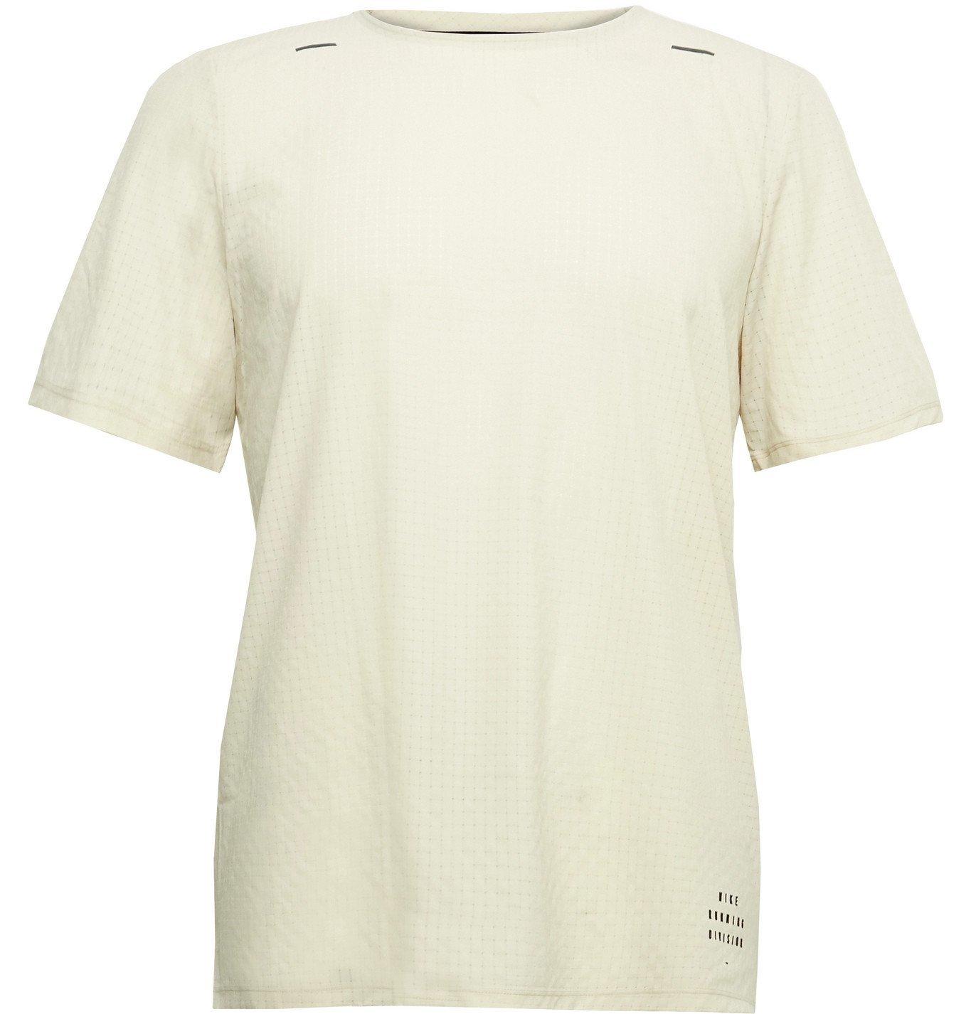 Nike Running - Slim-Fit Division Adapt Perforated Dri-Fit Mesh T-Shirt - Neutrals