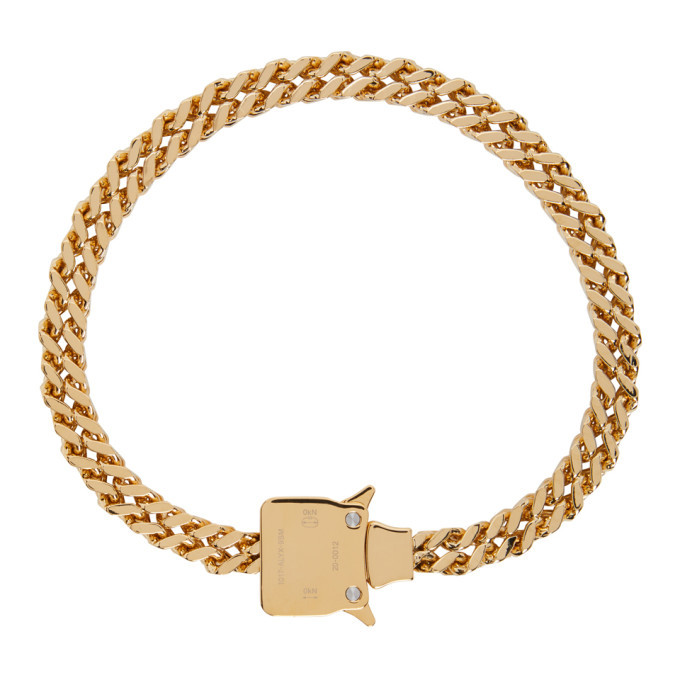 Photo: 1017 ALYX 9SM Gold Cubix Chain Necklace