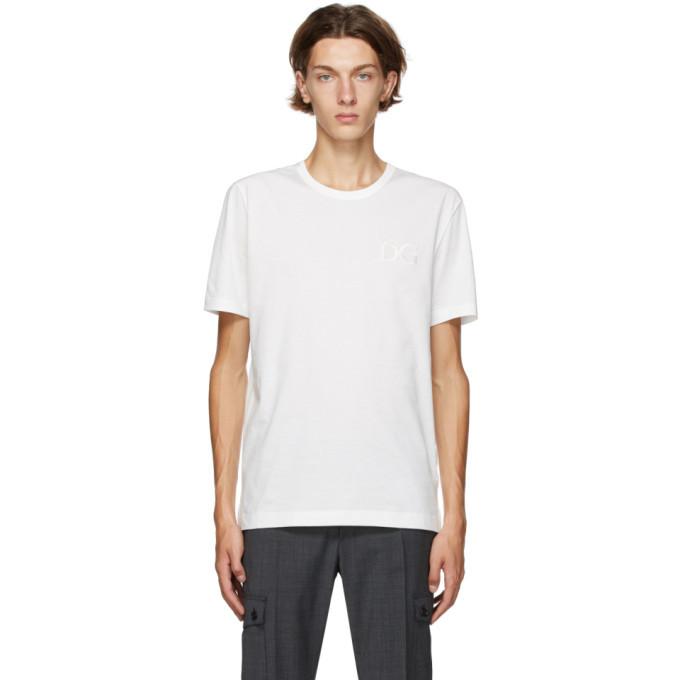 Photo: Dolce and Gabbana White Jersey Logo T-Shirt