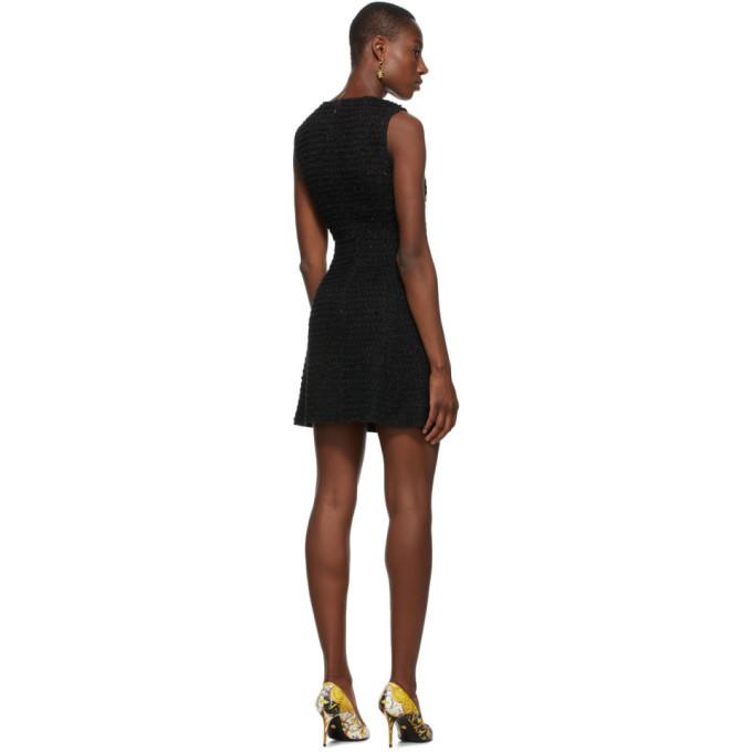 Versace Jeans Couture Black Tweed Short Dress