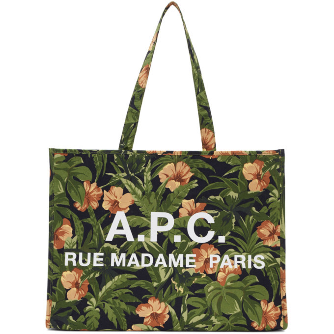 Photo: A.P.C. Green Hawaiian Mahe Shopping Tote