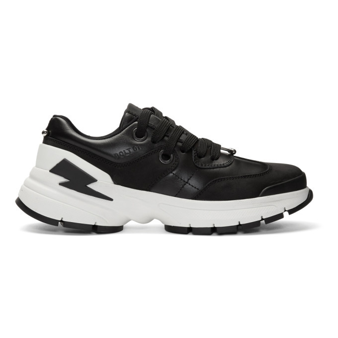 Photo: Neil Barrett Black and White Bolt01 Sneakers