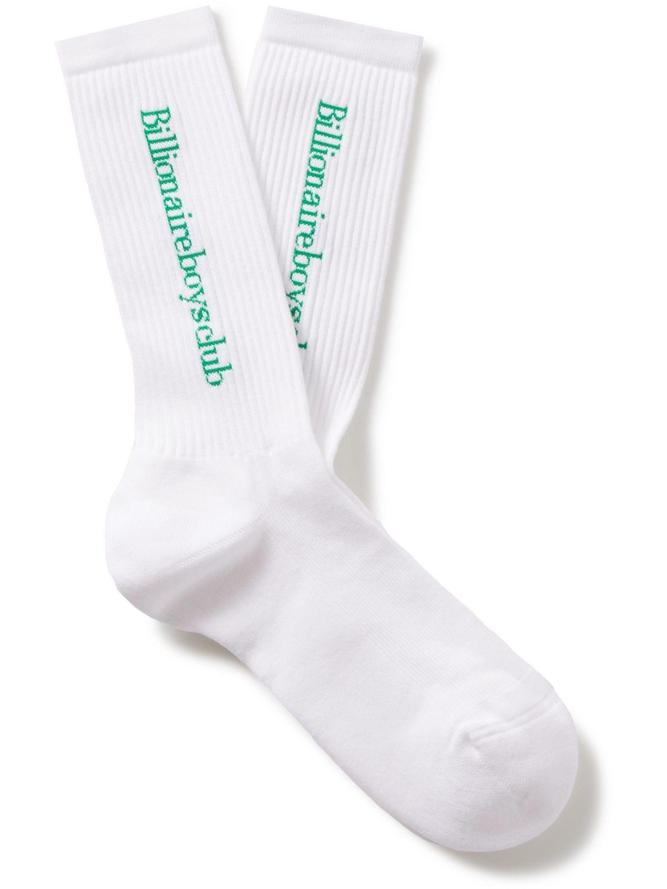 Photo: Billionaire Boys Club - Ribbed Logo-Jacquard Cotton-Blend Socks