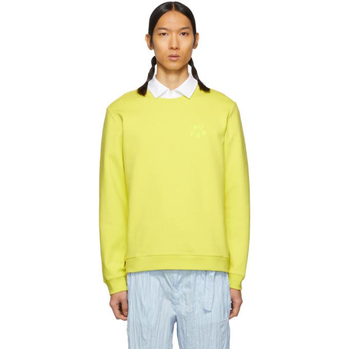 Photo: A.P.C. Yellow No Fun Sweatshirt