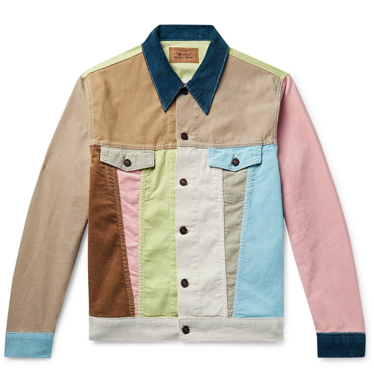 Photo: Levi's Vintage Clothing - Soap Box Colour-Block Cotton-Corduroy Trucker Jacket - Multi