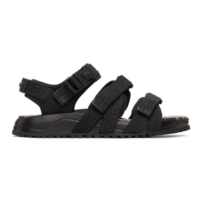 Photo: Versace Black Graecia Sandals
