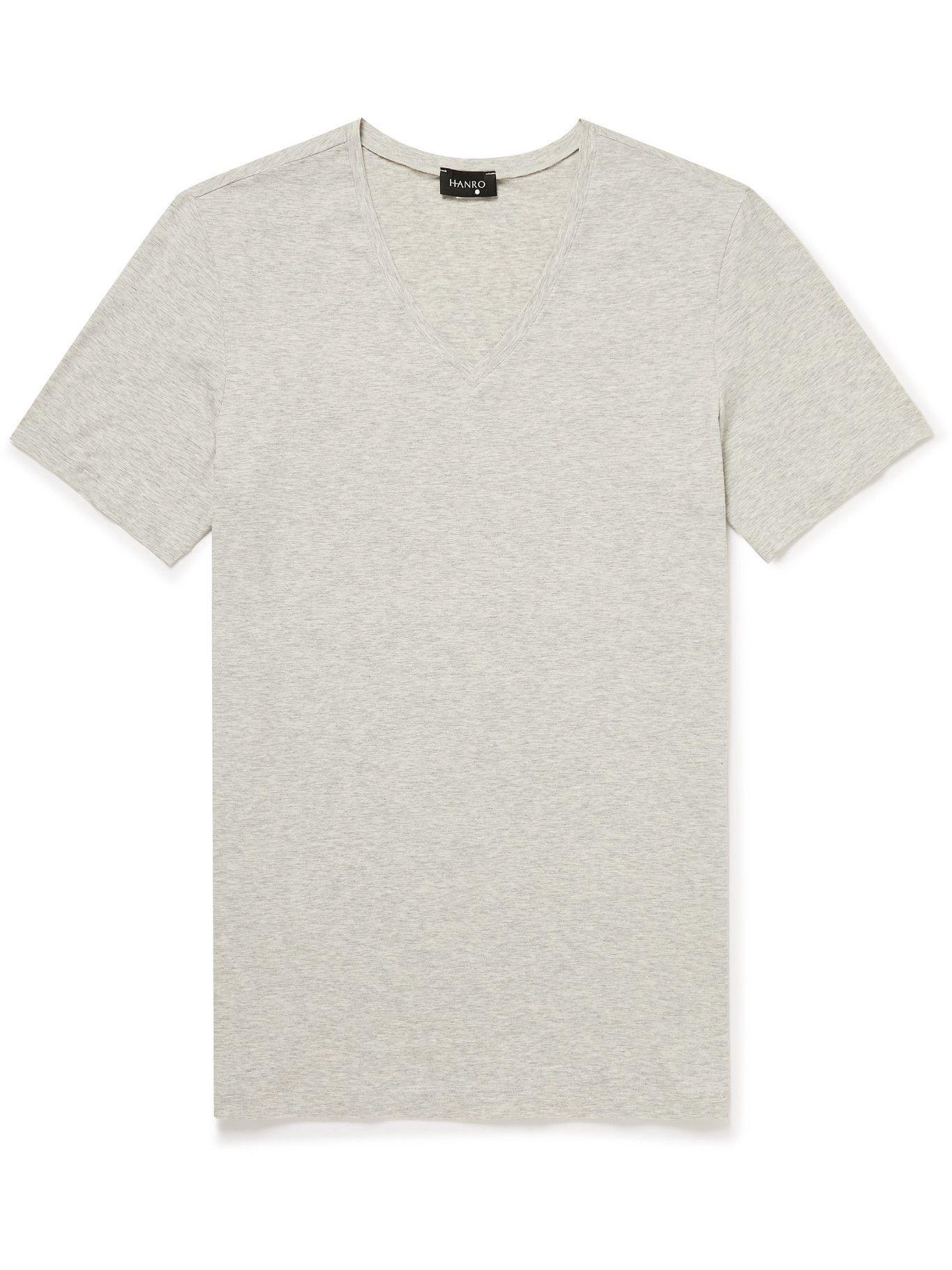 Photo: Hanro - Stretch-Cotton Jersey T-Shirt - Gray