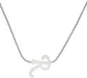 Raf Simons Silver 'R' Pendant Necklace
