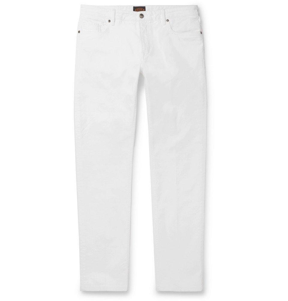 Photo: Tod's - Slim-Fit Denim Jeans - Off-white