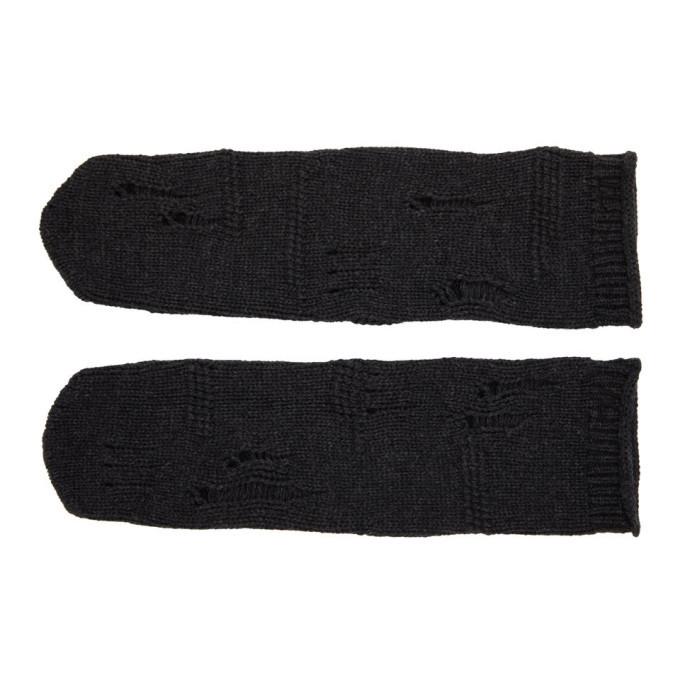 Photo: Helmut Lang Grey Distressed Socks