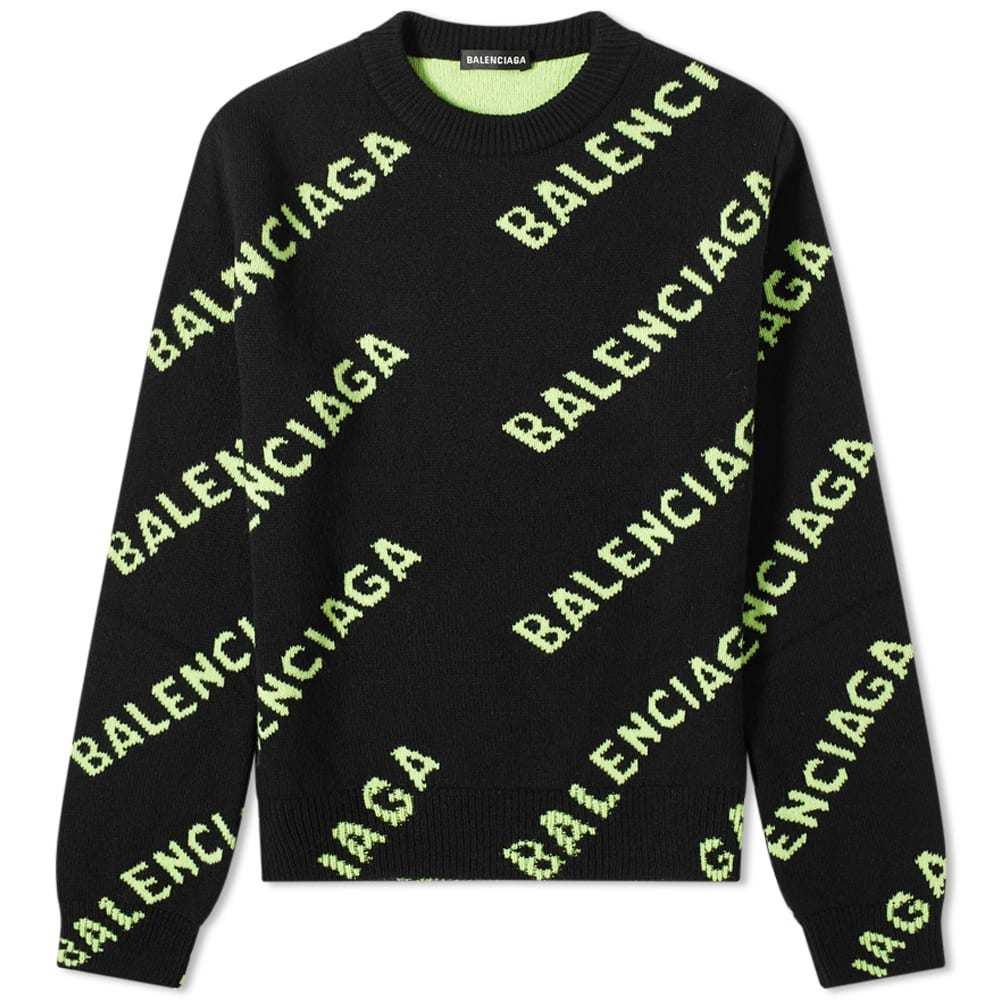 Photo: Balenciaga All Over Logo Intarsia Knit