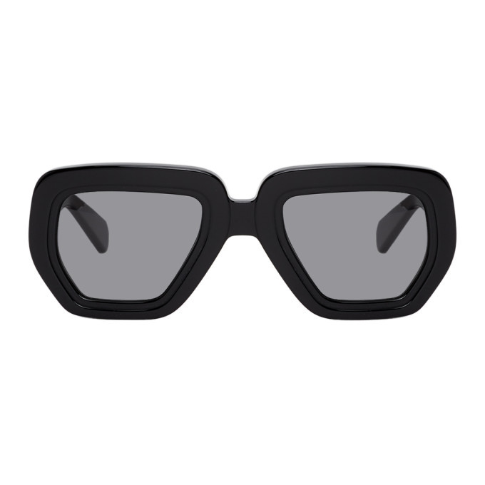 Martine Rose Black Wide Frame Sunglasses