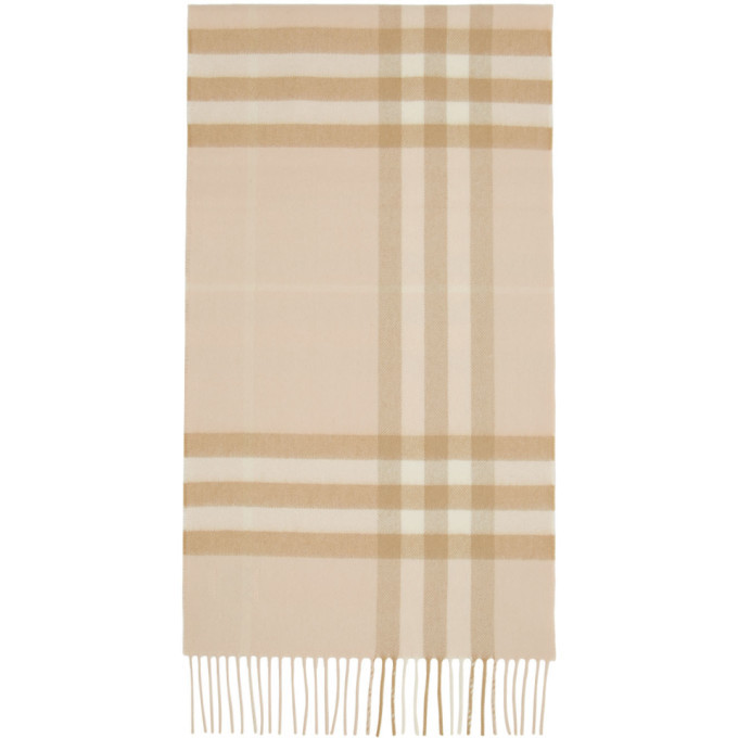 Photo: Burberry Tan Cashmere Giant Check Scarf