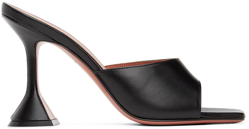 Photo: Amina Muaddi Black Lupita Heeled Sandals