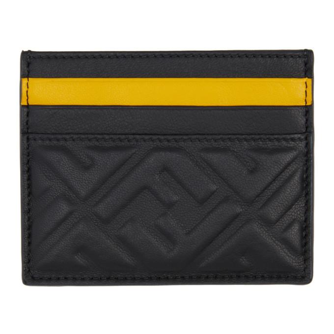 Photo: Fendi Black and Yellow Forever Fendi Business Card Holder