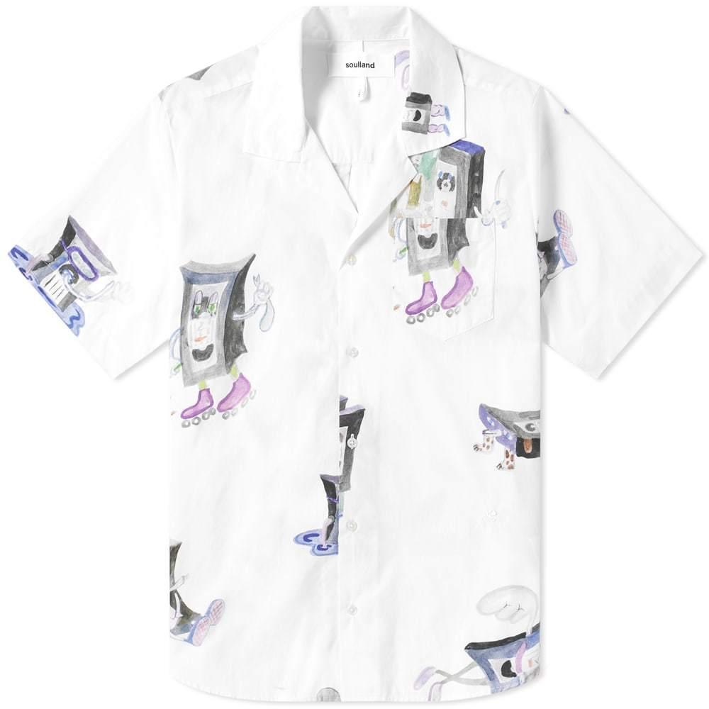 Photo: Soulland Short Sleeve VHS Print Vacation Shirt