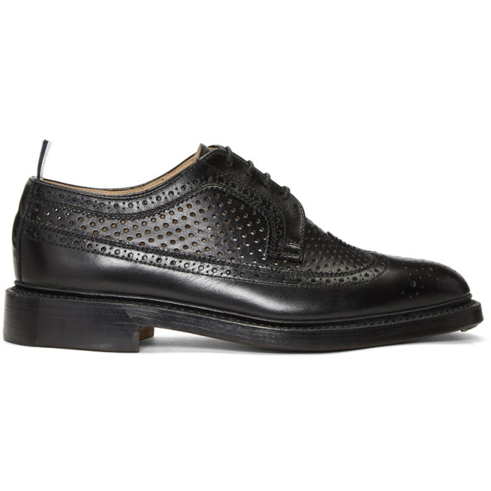 Photo: Thom Browne Black Perforated Classic Longwing Brogues