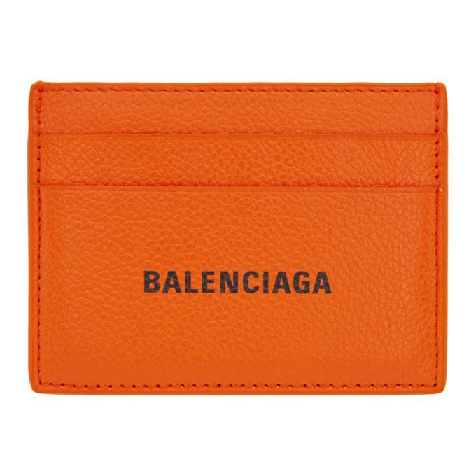 Photo: Balenciaga Orange Cash Card Holder
