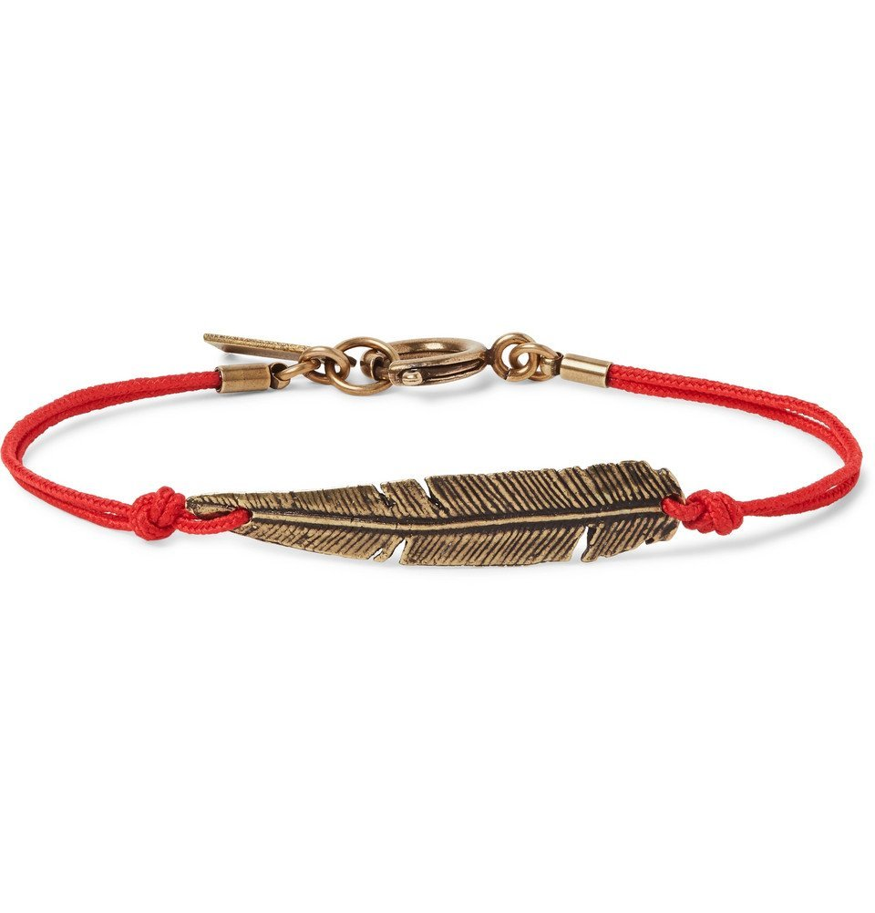 Photo: Isabel Marant - Cord and Gold-Tone Bracelet - Red