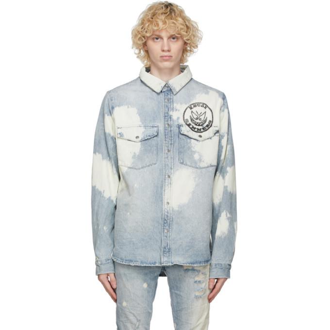 Ksubi Blue Denim Frontier Oktane Shirt