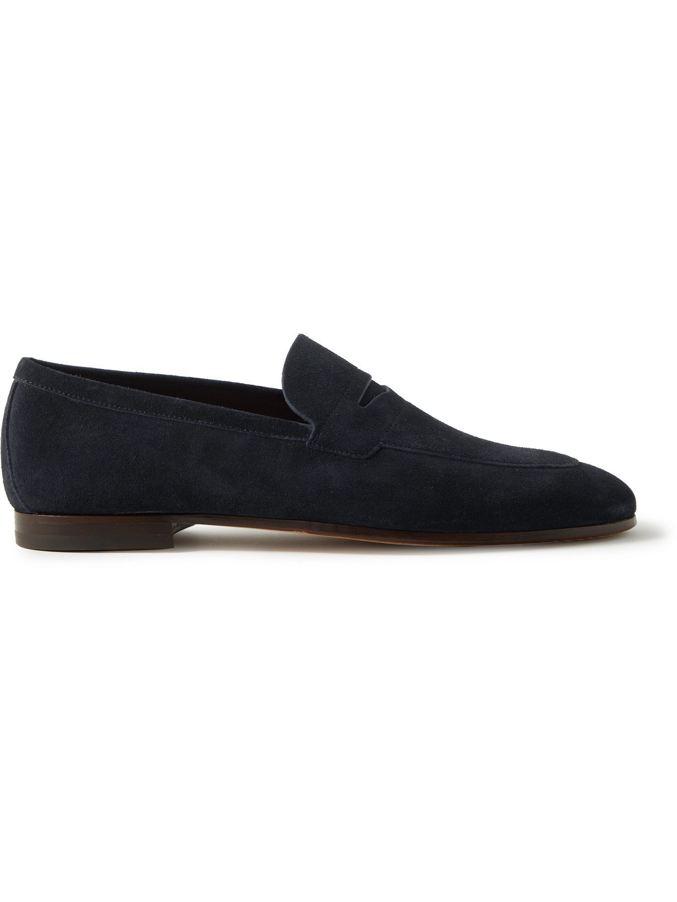 HUGO BOSS - Suede Penny Loafers - Blue
