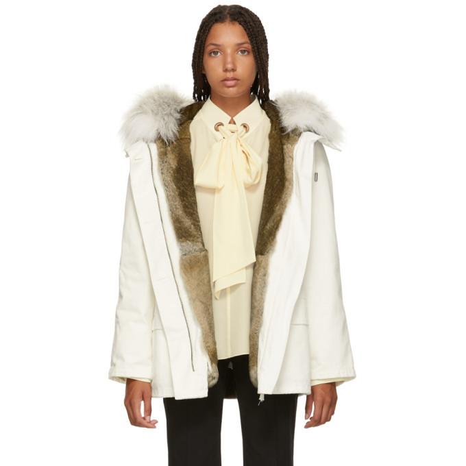 White Fur Lined Parka