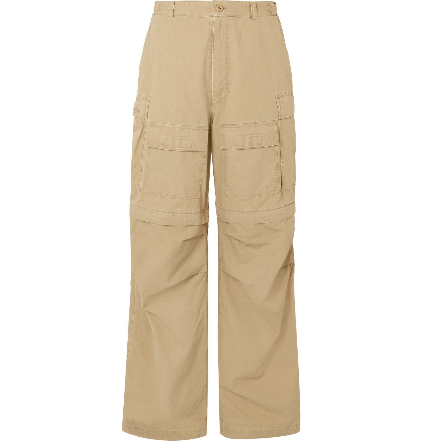 Photo: Balenciaga - Wide-Leg Convertible Cotton-Ripstop Cargo Trousers - Neutrals