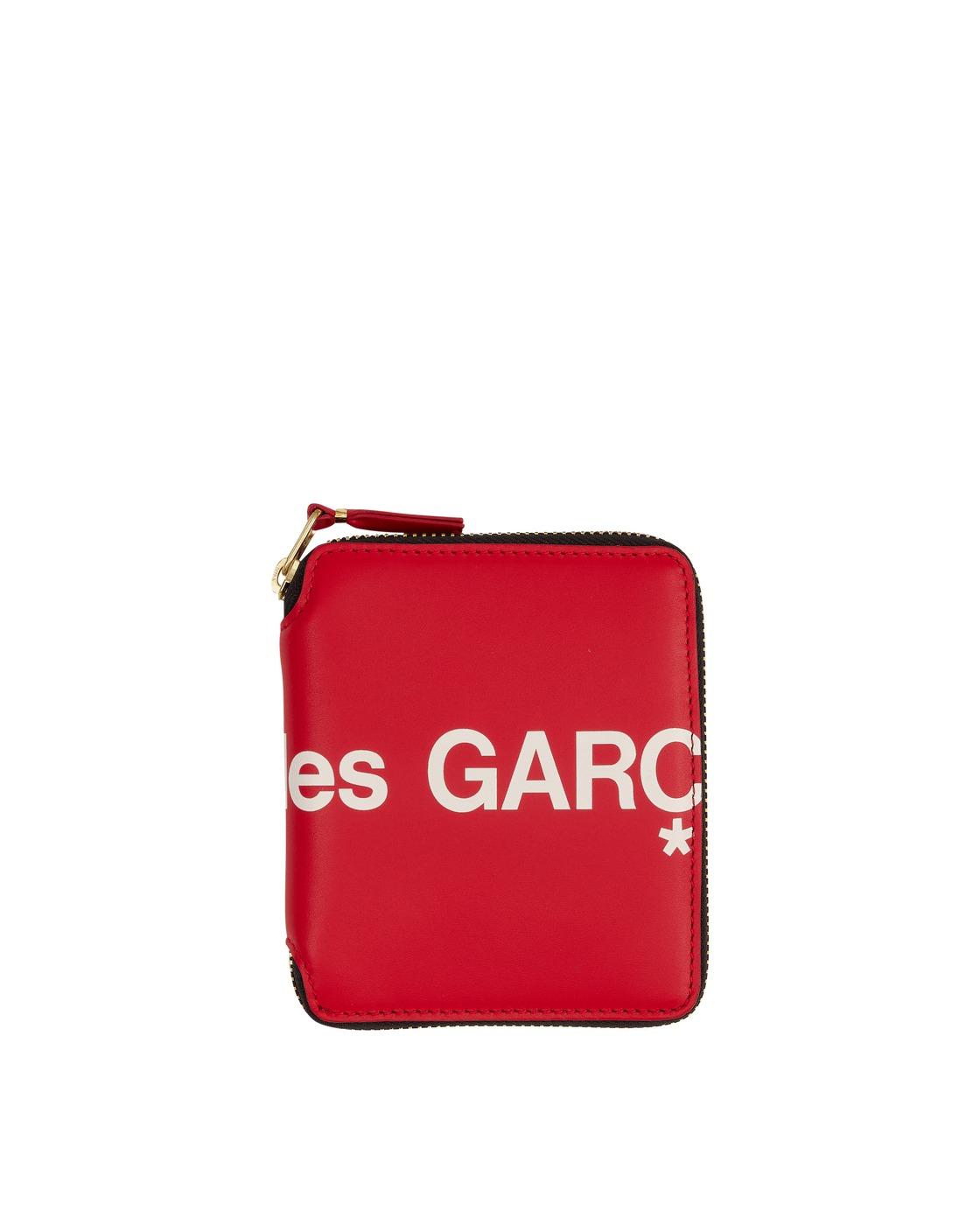 Photo: Comme Des Garcons Wallet Huge Logo Zip Around Wallet Red