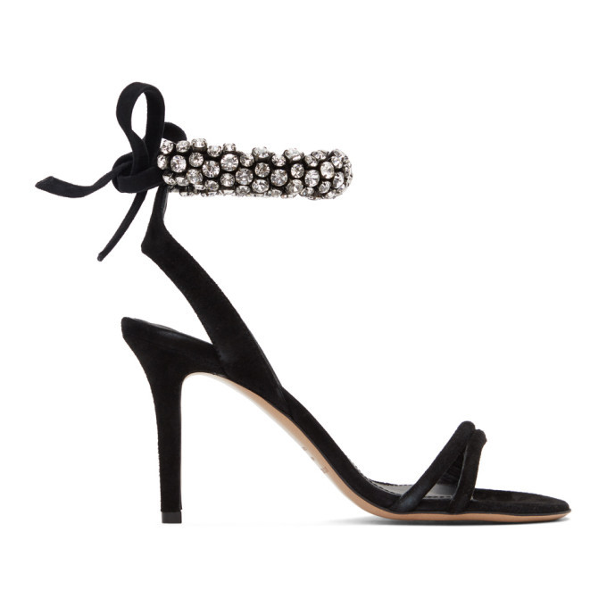 Photo: Isabel Marant Black Alrina Heeled Sandals