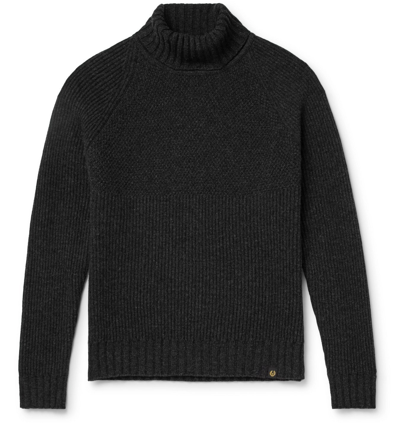 Photo: Belstaff - Marine Virgin Wool Rollneck Sweater - Gray