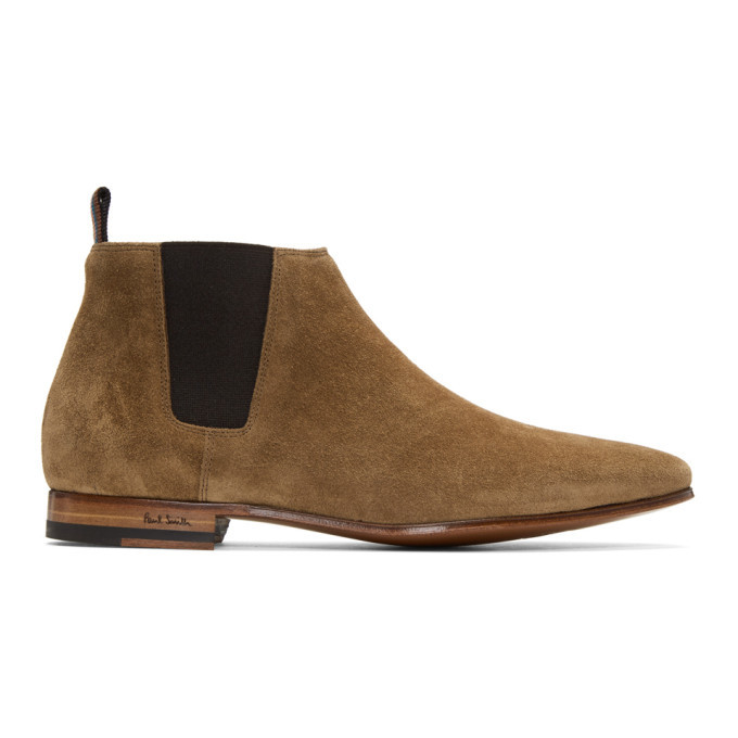 Photo: Paul Smith Tan Suede Marlowe Chelsea Boots