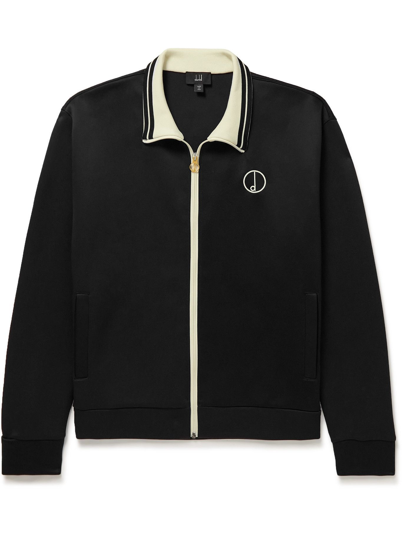 Photo: Dunhill - Logo-Embroidered Tech-Jersey Track Jacket - Black