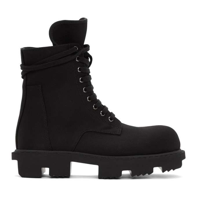 Photo: Rick Owens Drkshdw Black Bozo Megatooth Lace-Up Boots