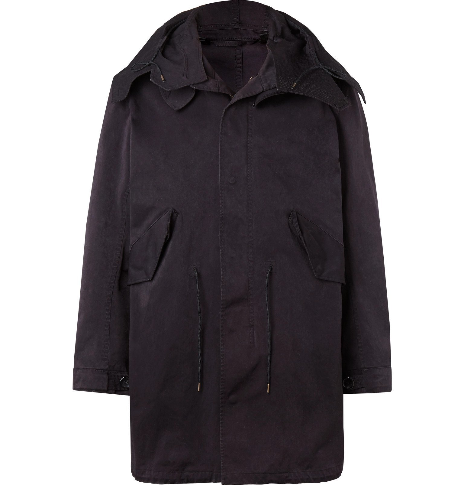 Photo: Ten C - Microfibre Fishtail Parka - Blue