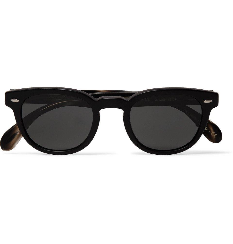 Photo: Oliver Peoples - Sheldrake Round-Frame Acetate Polarised Sunglasses - Black