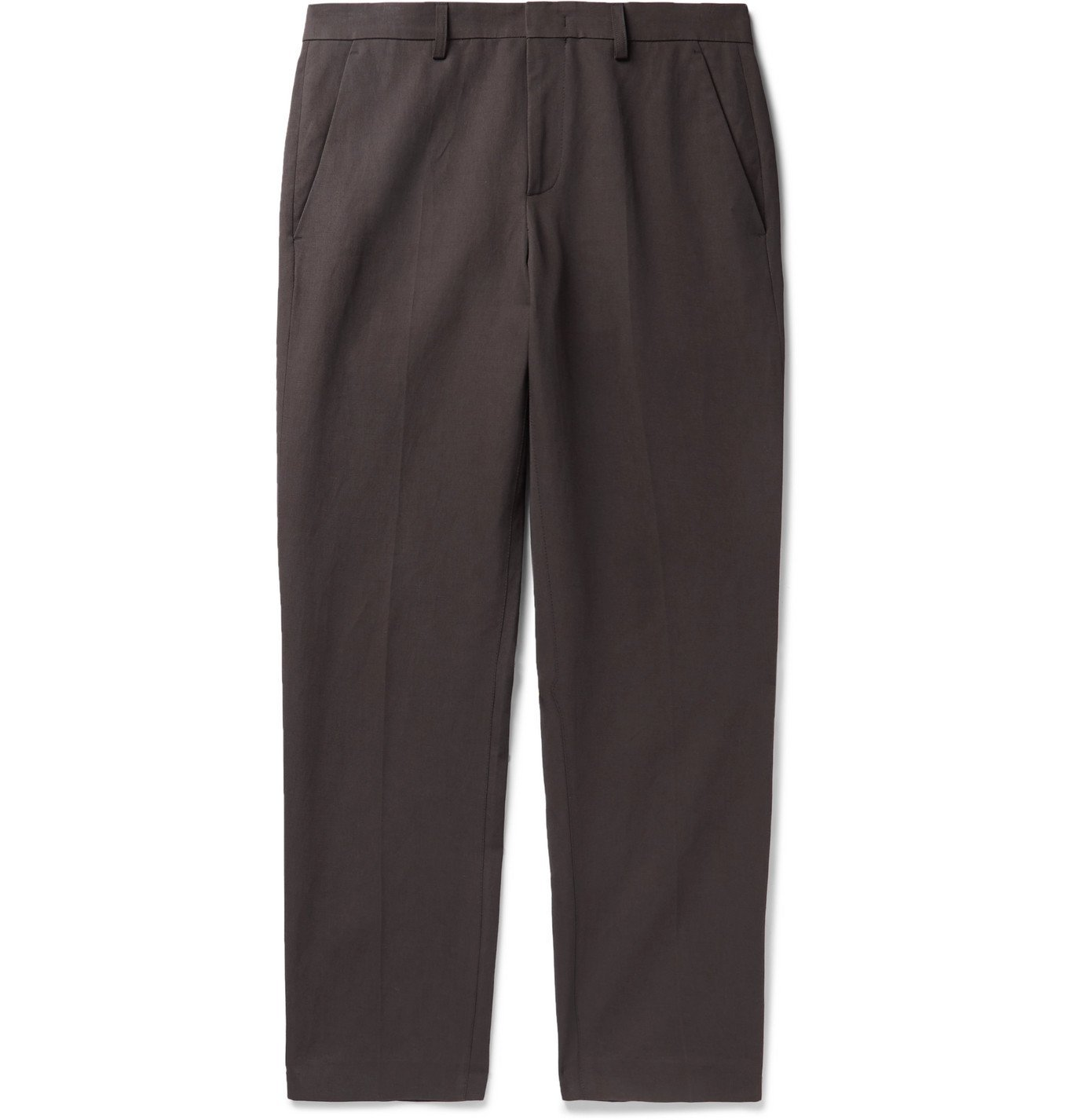 Photo: A.P.C. - Raphael Slim-Fit Cotton and Linen-Blend Twill Chinos - Gray