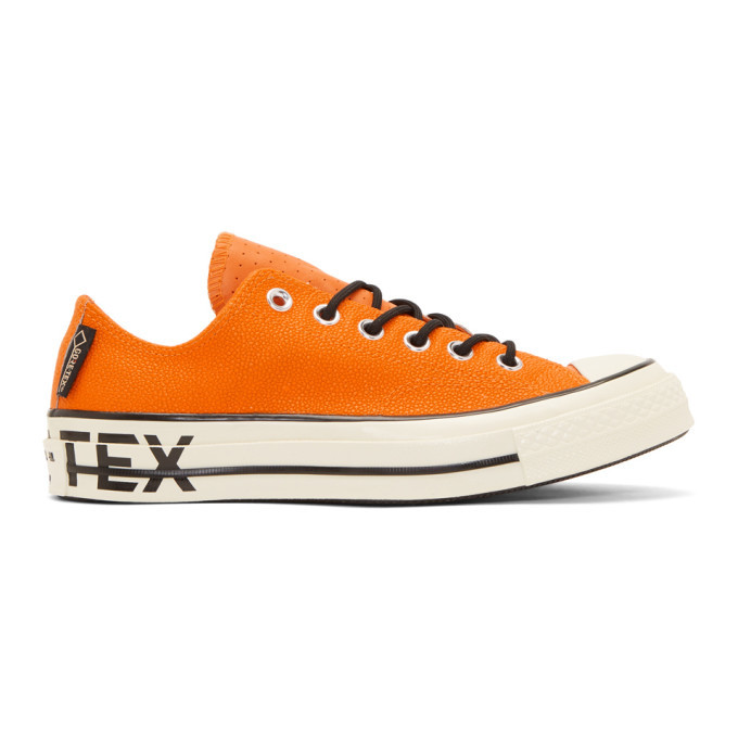 Photo: Converse Orange Leather Chuck 70 Low Sneakers