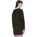 Acne Studios Green Mohair and Wool Long Cardigan