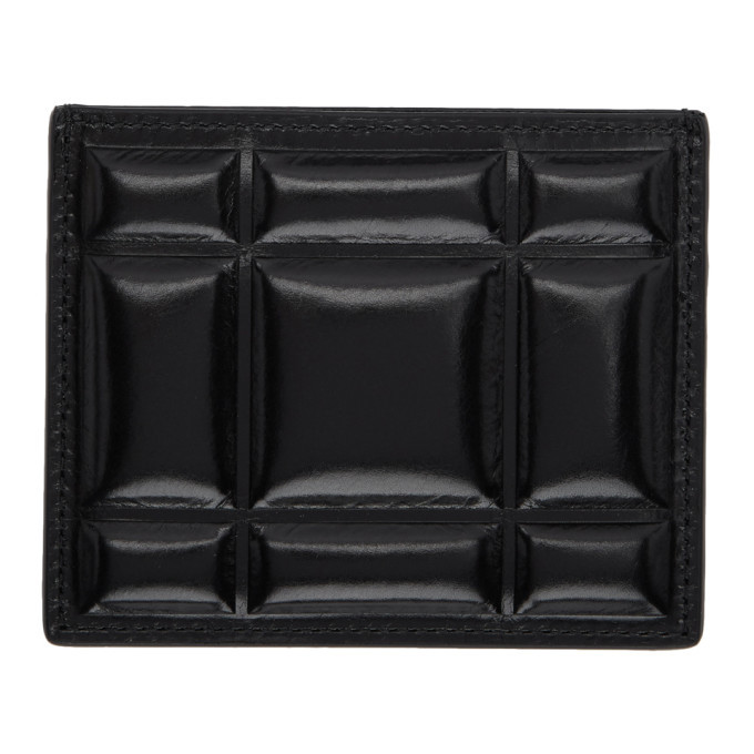 Photo: Bottega Veneta Black Padded Paper Card Case