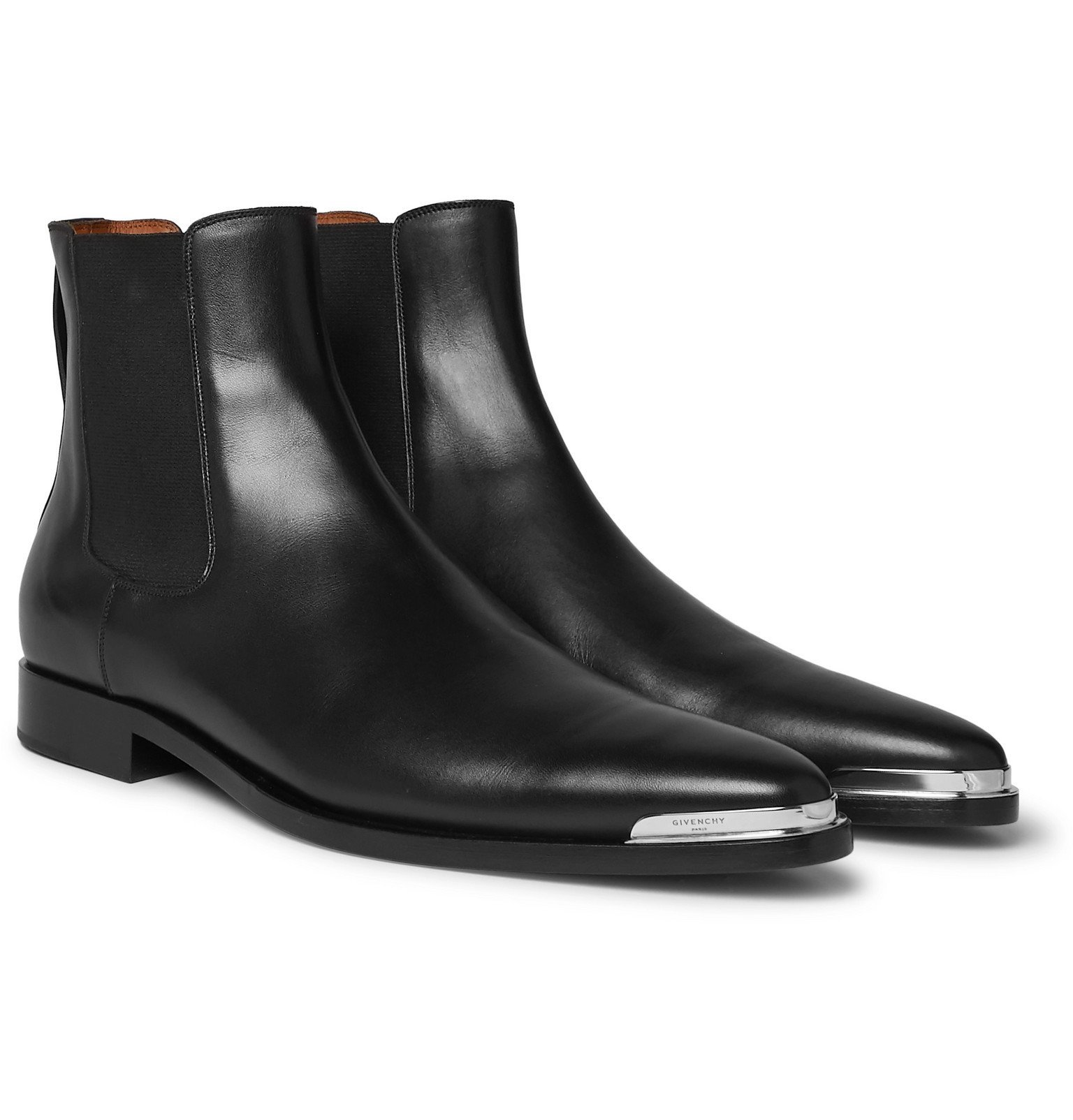 Photo: Givenchy - Dallas Leather Chelsea Boots - Black