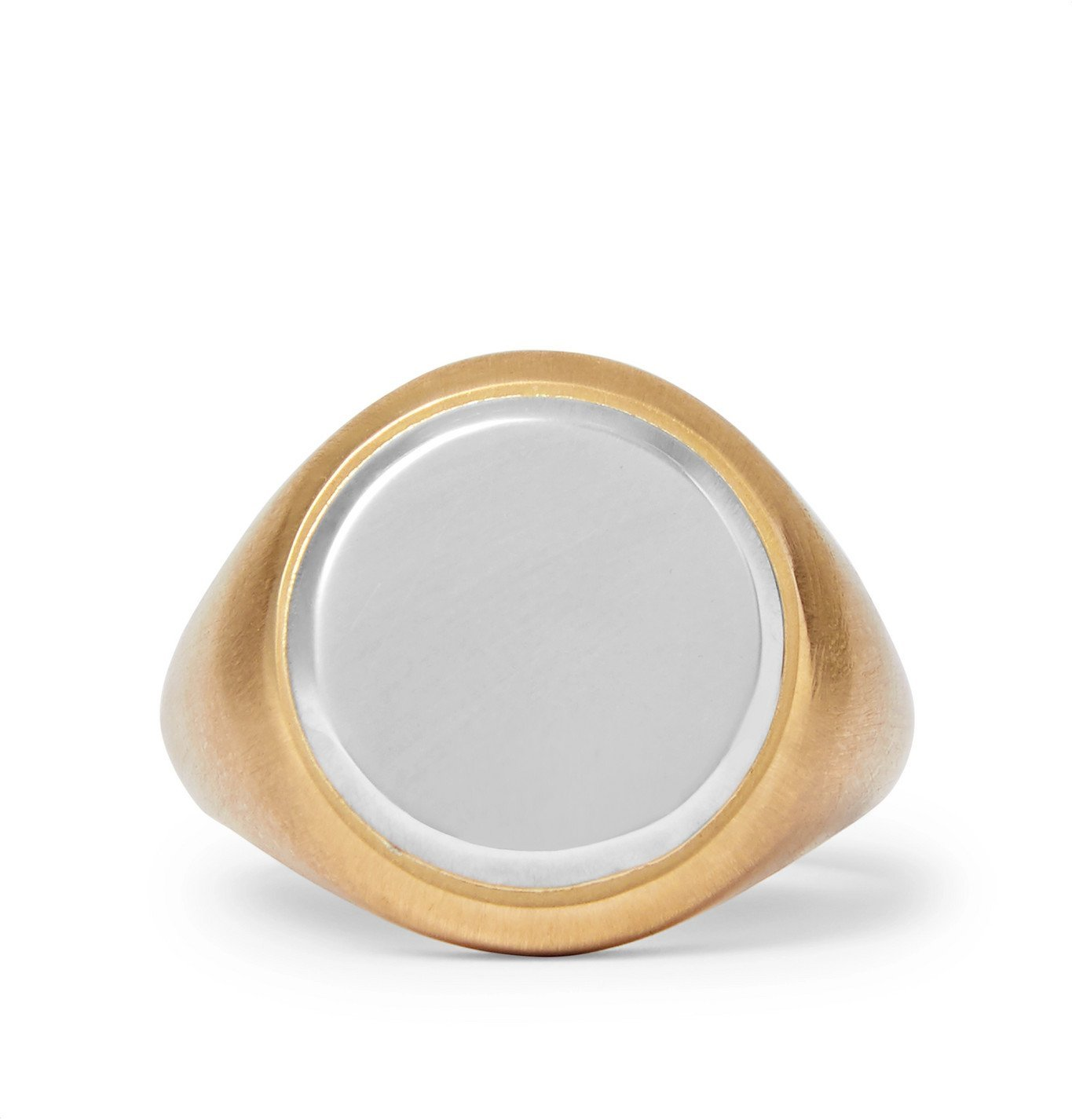 Photo: M.Cohen - 18-Karat Gold and Sterling Silver Signet Ring - Gold