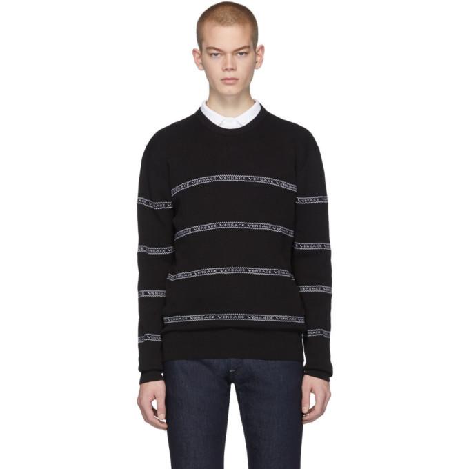 Photo: Versace Black Nastro Slim-Fit Sweater
