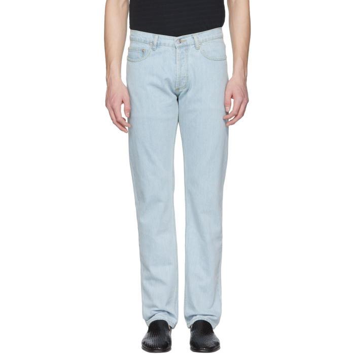 Photo: Éditions M.R  Blue Regular Fit Bleached Jeans