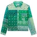 KAPITAL - Patchwork Bandana-Print Cotton Jacket - Green