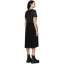 Sacai Black Pleated Belt Poplin Dress