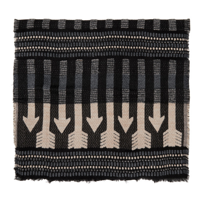 Photo: Mackage Grey and Pink Wool Aro Scarf
