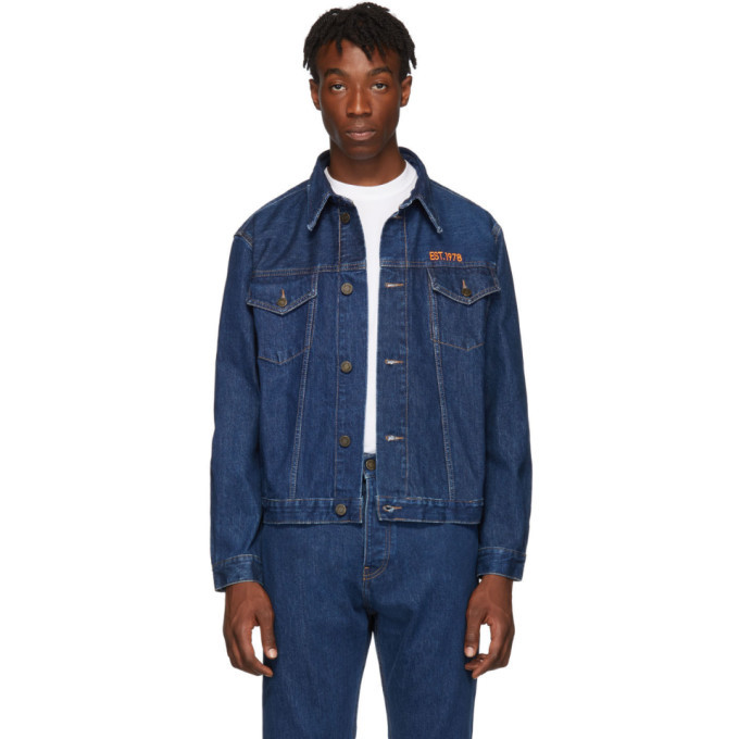 Photo: Calvin Klein Jeans Est. 1978 Blue Denim Logo Jacket
