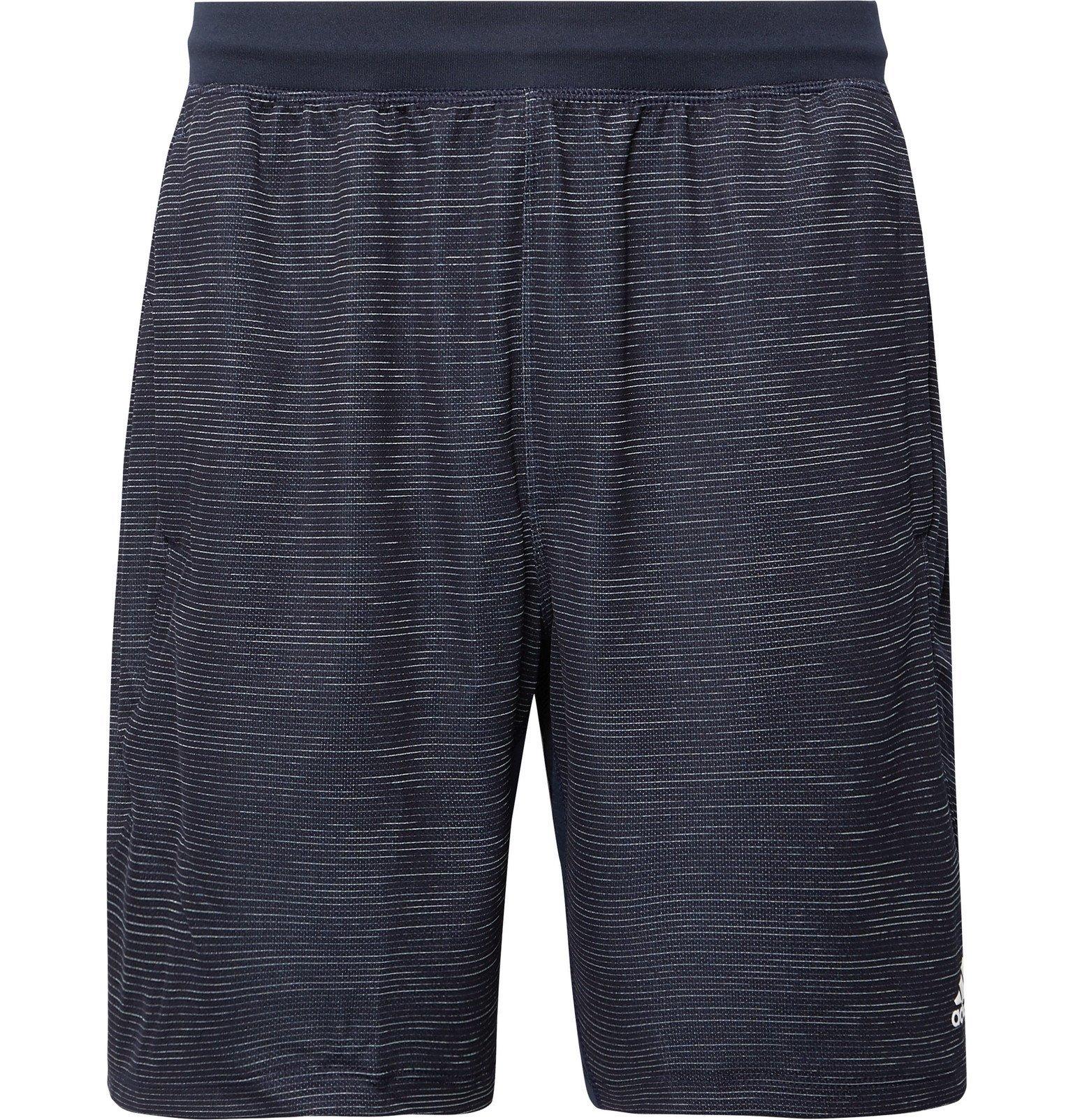 Photo: Adidas Sport - 4KRFT Striped Climalite Shorts - Blue